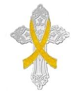 Bladder Cancer Pin Yellow Awareness Ribbon Reli... - $10.97