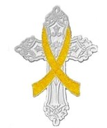 Myxoide Liposarcoma Pin Yellow Awareness Ribbon... - $11.97