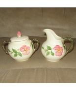 Desert Rose Sugar Dish and Creamer Set by Franc... - $32.95