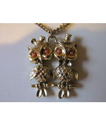 Retro / Vintage Kitschy Mr. & Mrs. Owl Pendant ... - $9.99