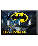 BATMAN FOREVER SUPERHERO TRIPLE LIGHT SWITCH WA... - $14.39