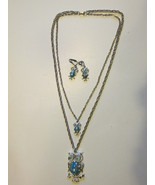 Retro / Vintage Large & Small Owl Pendant Neckl... - $12.99