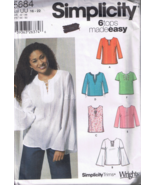 Simplicity 5684 - Misses Pullover Tunic or Top ... - $5.00
