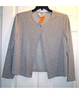 Cervelle Sliver Shimmery 2 Button Long Sleeve ... - $19.99
