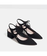 BNWT ZARA BACK HIGH HEEL SLINGBACK SHOES s.40-4... - $59.99