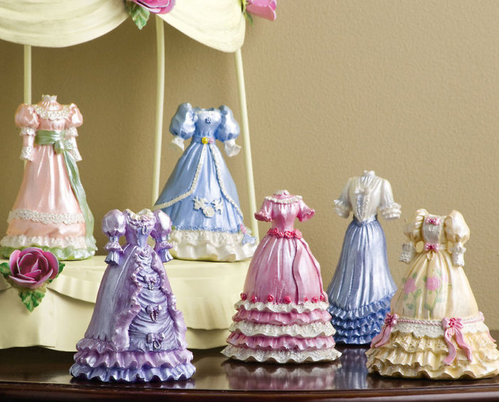 Hand Painted Victorian Dress Collectibles