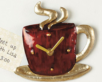 Magnetic Coffee Mug Kitchen Clock 5.5
