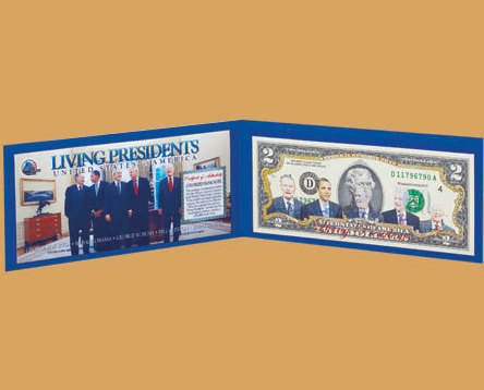 Image 0 of Living Presidents American Legends $2 Bill  Uncirculated