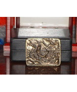 Pre-Owned Vintage Adezy Fisherman 1975 Belt Buckle - $16.83