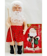 Fibre Craft 15 Inch Old World Santa Doll with S... - $32.00