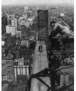 Iron Workers High Up In Sky 1908 Vintage 8x10 R... - $19.99