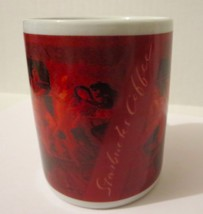 Starbucks Coffee Mug Cup Red with Cafe Scene Pe... - $24.04