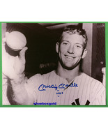 MICKEY MANTLE, NEW YORK YANKEES,  Signed 8X10 P... - $299.99