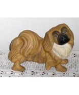 Pekingese Dog Statue Figurine Brown and Cream H... - $19.99