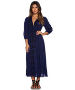 Sz M NEW Free People Embroidered Fable Maxi Dre... - $141.37