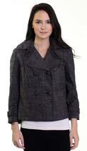 Sz 6 Calvin Klein Gray Plaid Double Breasted Bu... - $42.31