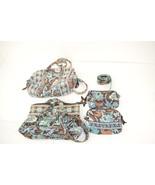VERA BRADLEY Java BLUE Handbag Tote Cosmetic Be... - $39.59