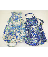 Vera Bradley Mediterranean Blue White LOT of 4 ... - $29.69