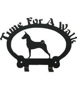Dog Leash Hook - Basenji (Time for a Walk) - $24.74