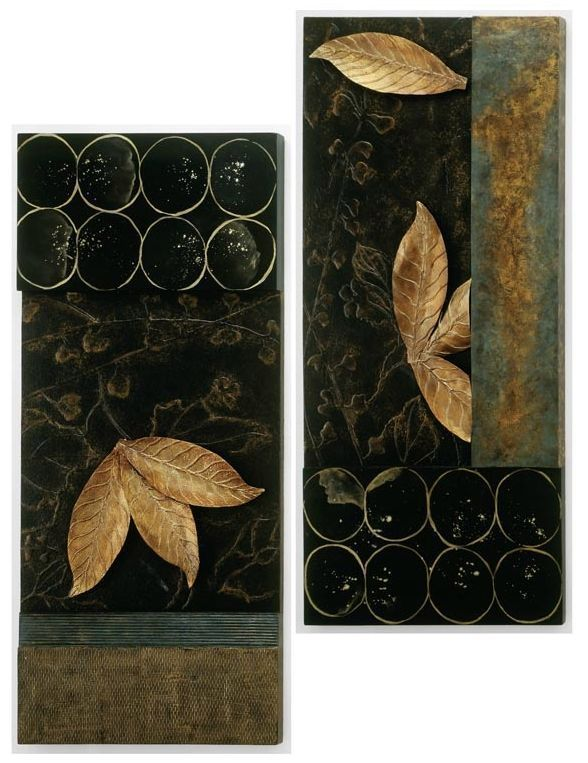 Abstract Art Wall Panels Decor Modern Design set of 2