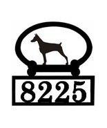 Doberman Pinscher Silhouette Custom Home Addres... - $89.08