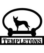 Australian Kelpie Custom House Sign One Line - $98.99