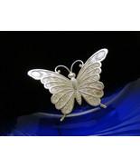 Vintage Beau Sterling Silver Butterfly Brooch S... - $24.74