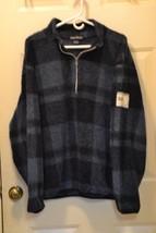 NAUTICA JACKET Fleece  Dark Blue & Black Plaid ... - $18.25