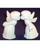 Vintage Pair Lefton White Porcelain Boy and Gir... - $12.99