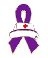 Fibromyalgia Lapel Pin Nurse Cap Purple Awarene... - $10.97