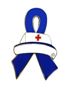 Rectal Cancer Lapel Pin Nurse Cap Blue Awarenes... - $10.97