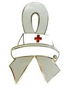 Bell's Palsy Lapel Pin Nurse Cap Gray Awareness... - $10.97