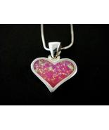 925 Sterling Silver Pink Opal Heart Love Charm ... - $12.99