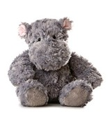 Aurora 12'' Plush TUBBIE WUBBIE Grey Hippo ~NEW~ - $13.49