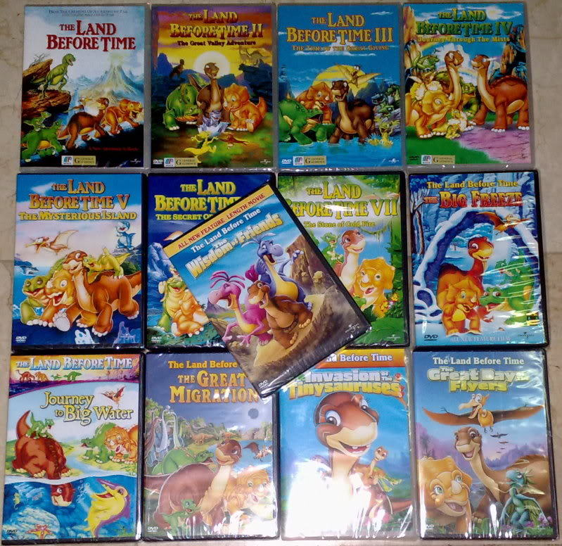 THE LAND BEFORE TIME Complete Set Vol 1 - 13 DVD BRAND NEW SEALED!