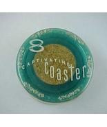 8 Vintage Captivating Blue Plastic Coasters wit... - $3.99