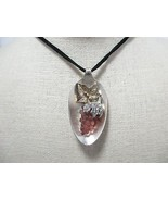 Handmade Spoon Pendant Necklace Frosted Grapes ... - $19.40