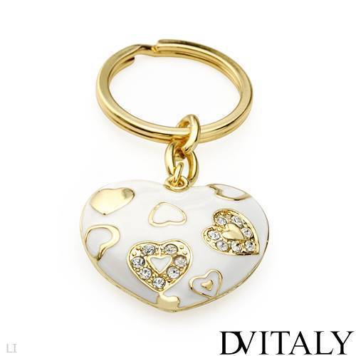 DV ITALY Crystal Heart Key Ring
