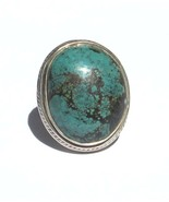 Sterling Silver .925  Blue Turquoise Ring Chunk... - $39.99