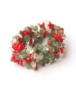 Coral Green Adventurine Crystal Chip Adjustable... - $8.99