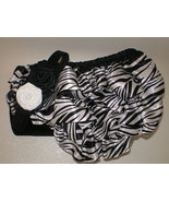 BABY GIRL ZEBRA PRINT BLOOMERS WITH MATCHING HE... - $14.00