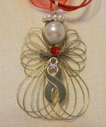 Diabetes Awareness Angel Necklace Handmade on R... - $12.99