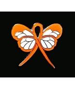 Leukemia Awareness Lapel Pin Orange Ribbon Butt... - $10.97