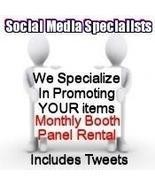 Social Media Specialists ONE MONTH Booth Panel ... - $11.00