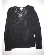 New Womens Ann Taylor Loft Sweater Black Oversi... - $59.99