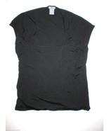 Womens L Ann Taylor Black Knit Top Silk Rayon N... - $48.00
