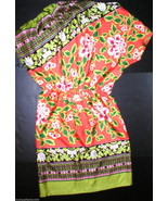 New NWT $495 Silk Josie Natori Dress Orange Flo... - $495.00