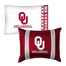 Oklahoma Sooners Pillow Sham Pillowcase College... - $37.29