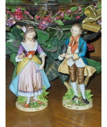 Enesco Man & Woman Figurine Set Victorian Vinta... - $28.00