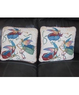 Angel Pillow Set White & Red with Metallic Gold... - $27.97